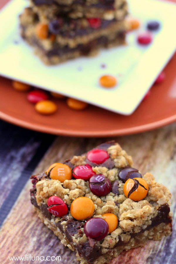 M M Chocolate Oat Bars Video Lil Luna Recipe Oat Bar Recipes Dessert Recipes Delicious Desserts