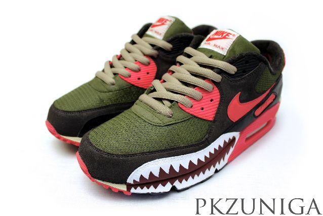 """d091acc8769a5e ... Nike Air Max 90 """"Warfrared"""" Custom by PKZUNIGA ..."""