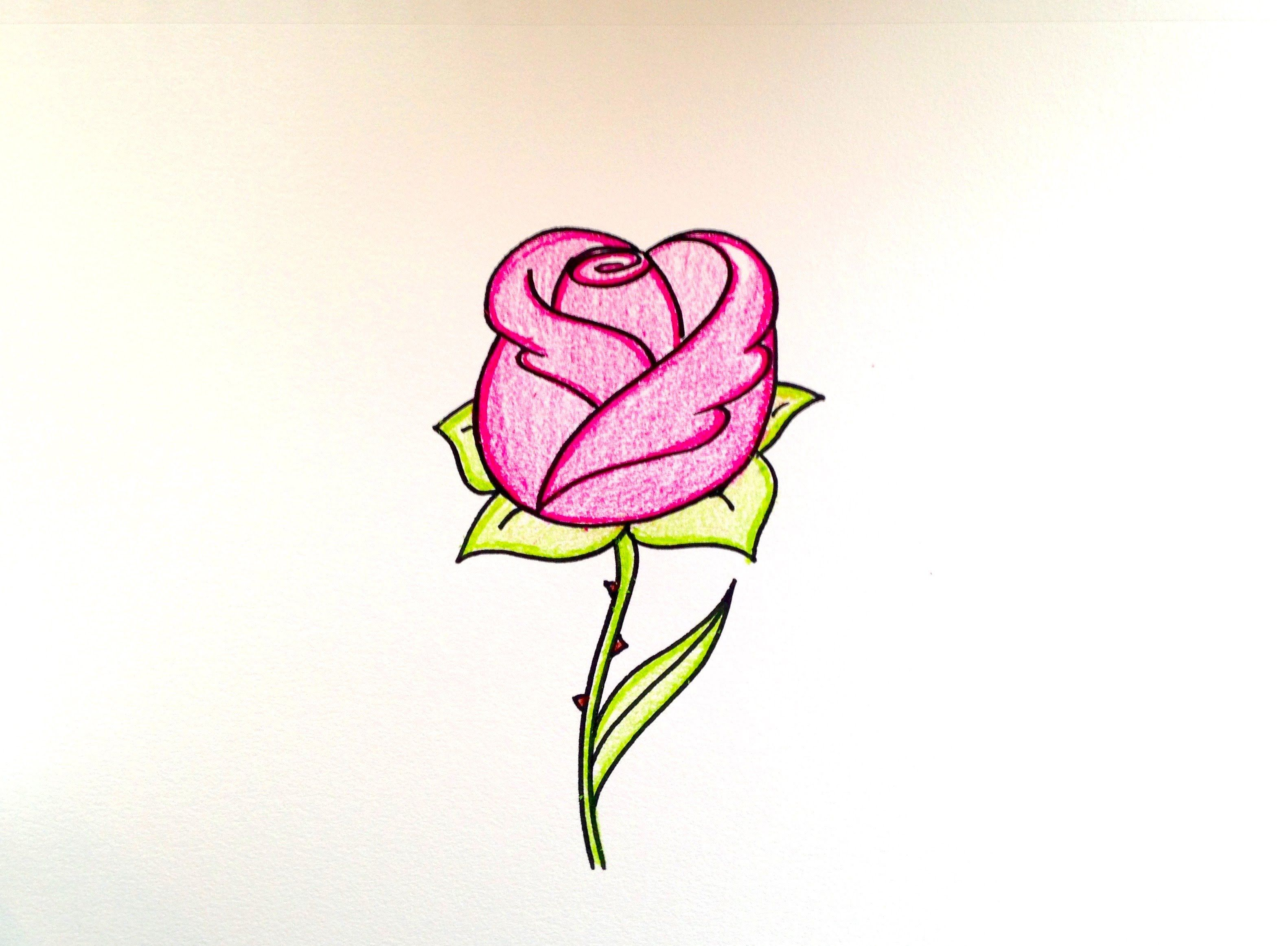Drawing Lesson How To Draw A Rose Grab Paper Crayons And A