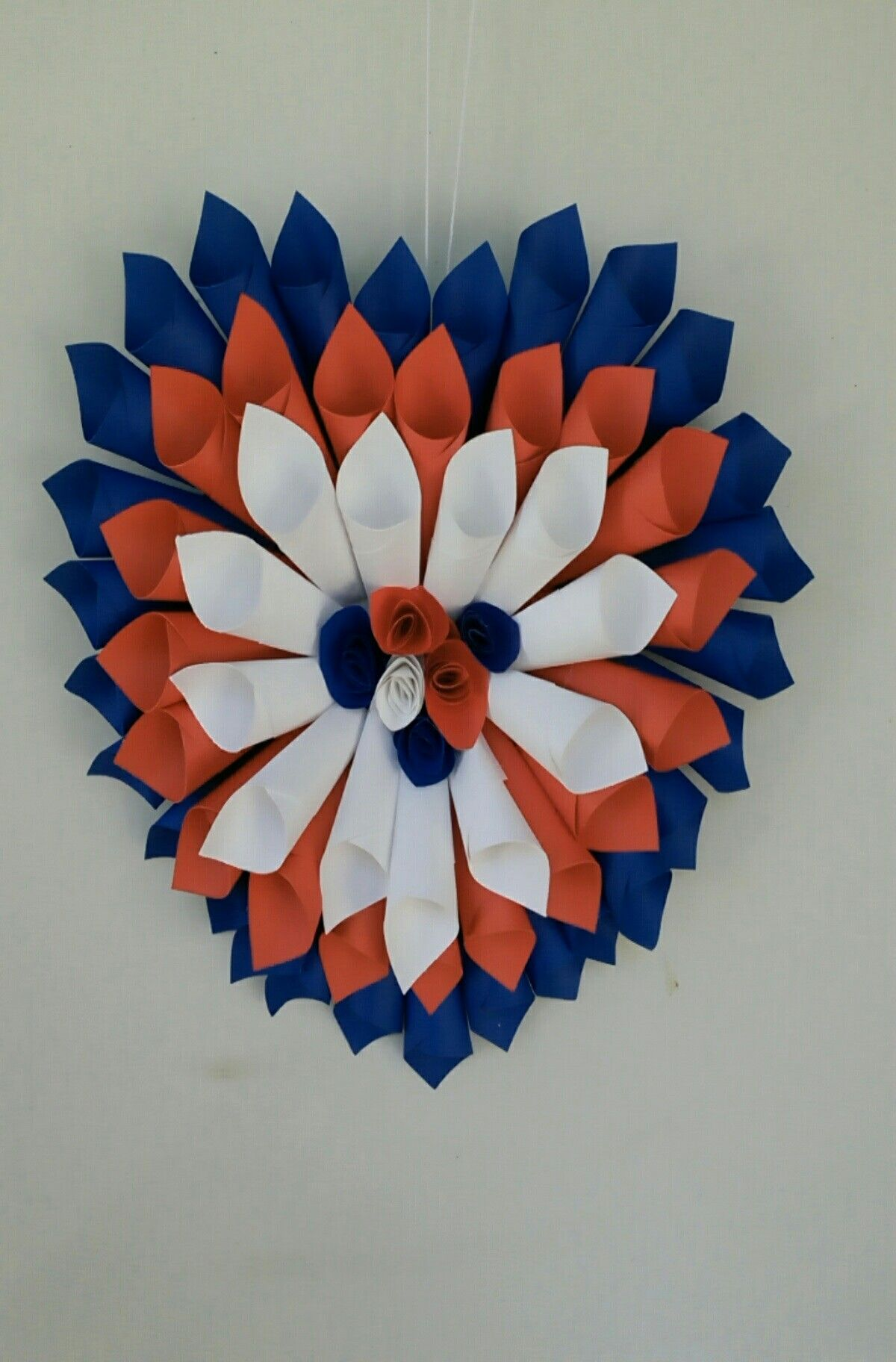 Heart Shaped Colorful Paper Craft Door Decor