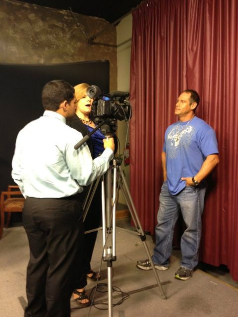 Interview at @KPVMTV for our Pahrump law office's grand opening in August. Thanks @vegasadgal for sharing the photo.
