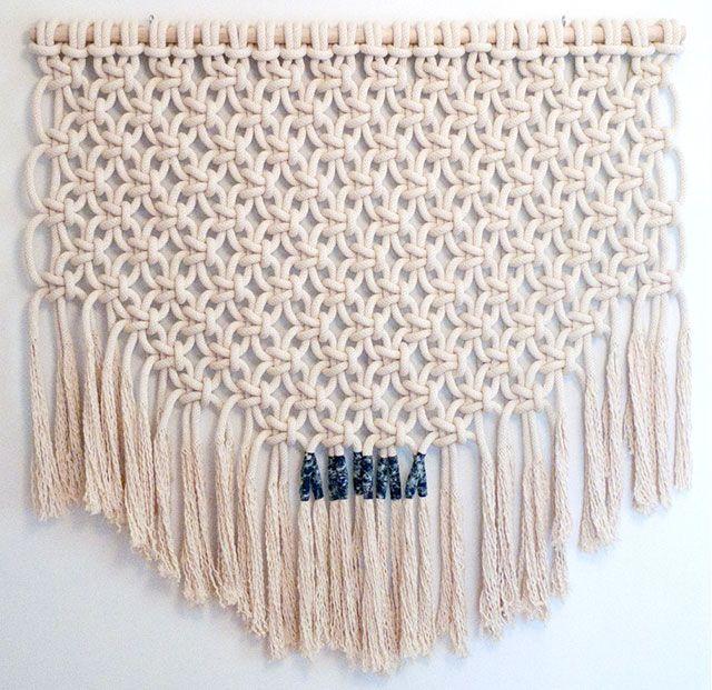 Sally England Macrame Stitch Patch Weave Macrame