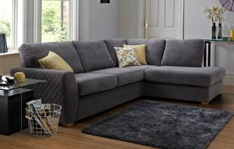 Astaire Left Hand Facing Arm Open End Corner Sofa Sherbet Dfs Grey Corner Sofa Grey Corner Sofa Corner Sofa Living Room