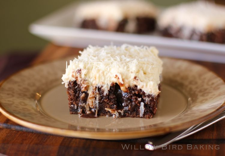 Chocolate Cake With Coconut Buttercream Frosting