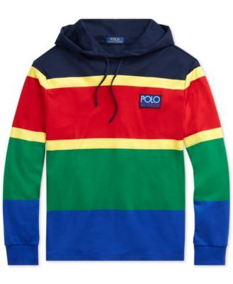 7b2d89a83 Polo Ralph Lauren Men's Big & Tall Hi Tech Soft-Touch Cotton Hoodie - Polo  Sport Red Multi 2LT