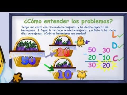 www.matecitos.com: 2º Primaria: Pasos para resolver problemas de matemáticas (método LDC) - YouTube