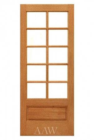Mahogany 10 Lite Interior French Door Bottom Panel Prehung Interior Doors Doors Interior Glass Doors Interior