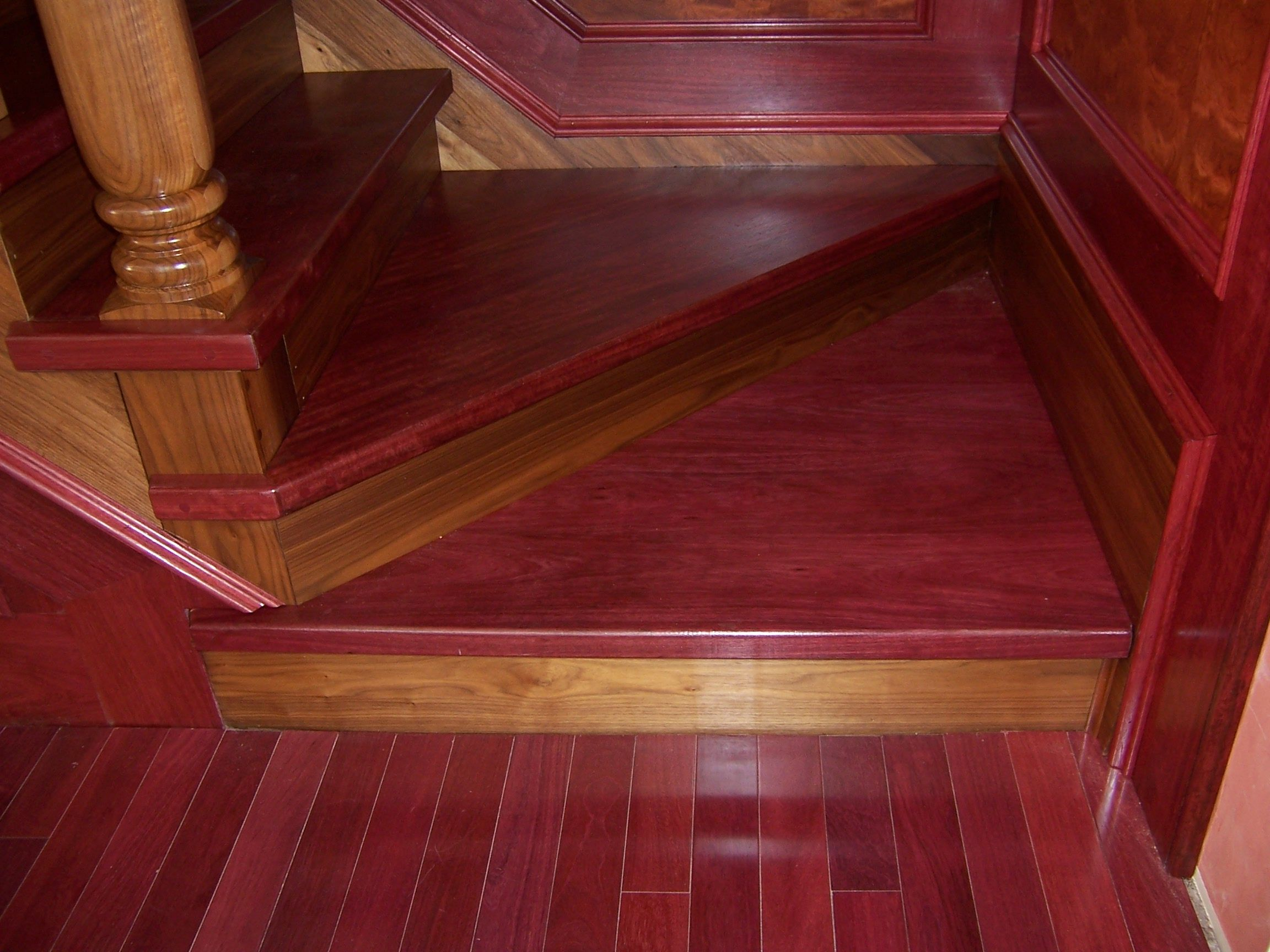 Purple Heart wood floors