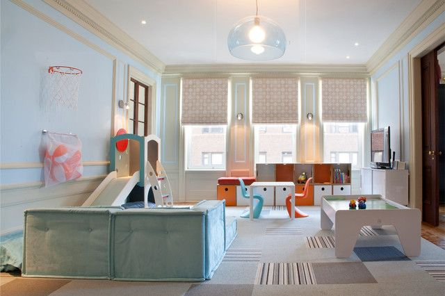 Amazing Glass Lamp Inside Contemporary Kids Playroom Ideas Near Colorful Children  Chairs Along With Clear Slide