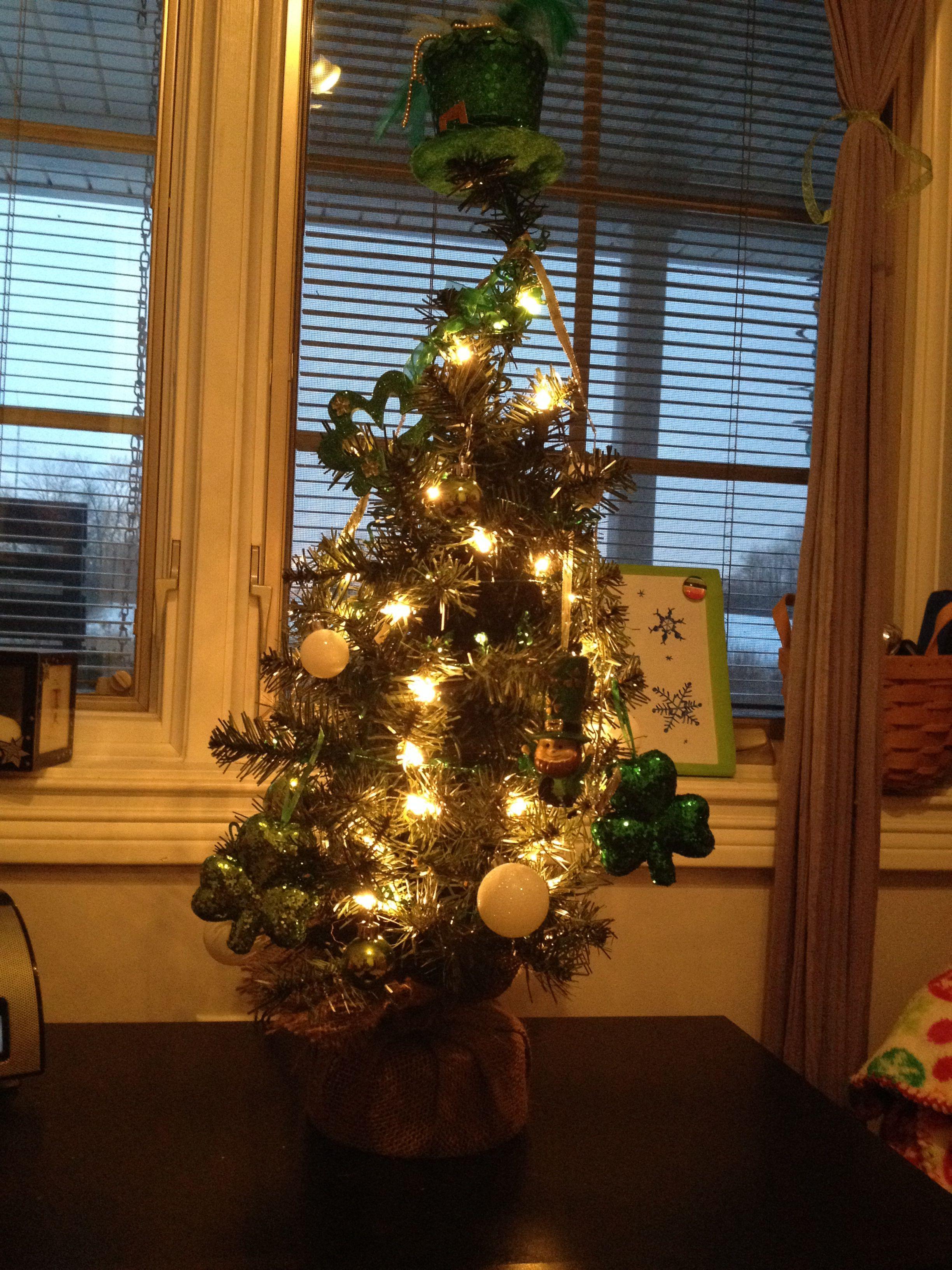 St. Patrick's Day tree!!! Holiday decor