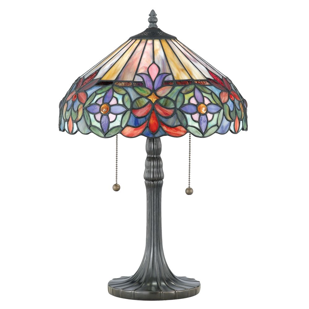 Connie Tiffany Table Lamp By Quoizel Tf6826vb Tiffany Style Lamp Tiffany Style Table Lamps Tiffany Lamps