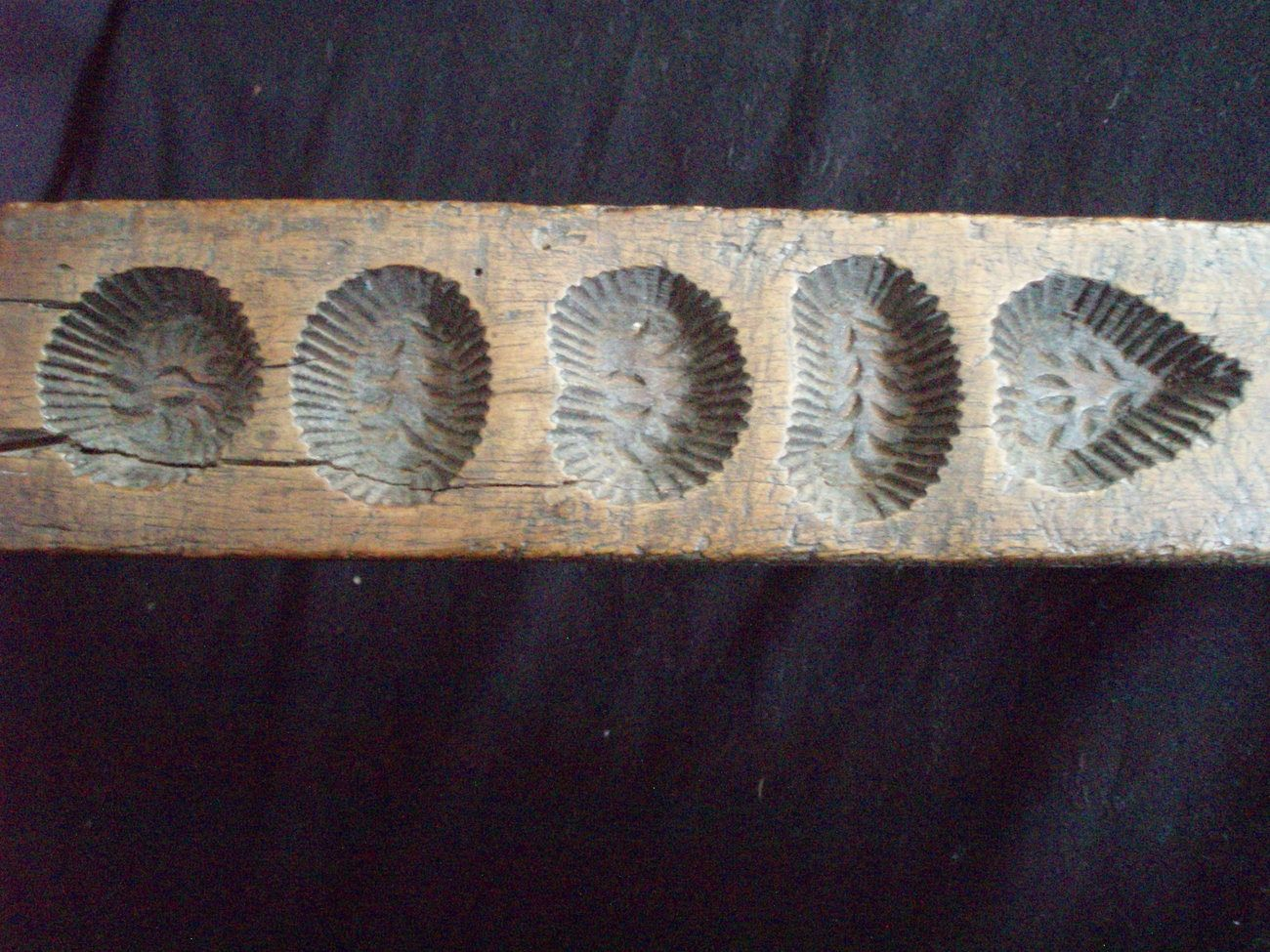 Antique maple sugar candy mold hand carved wood