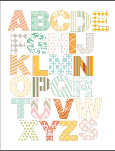 Abecedario para imprimir ‹ Descargables Gratis para Imprimir: Paper ...