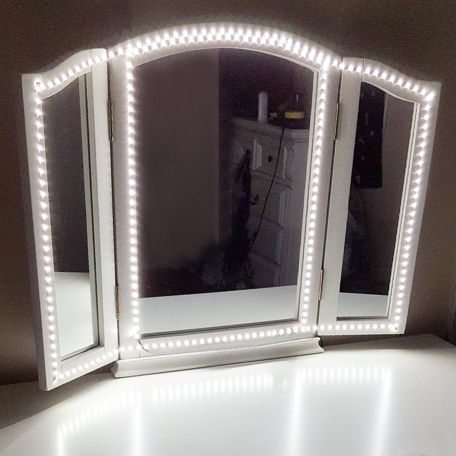 Tri Fold Vanity Mirror With Lights Shaving & Makeup Mirrors #ebay #fashion  Vanities And Lights