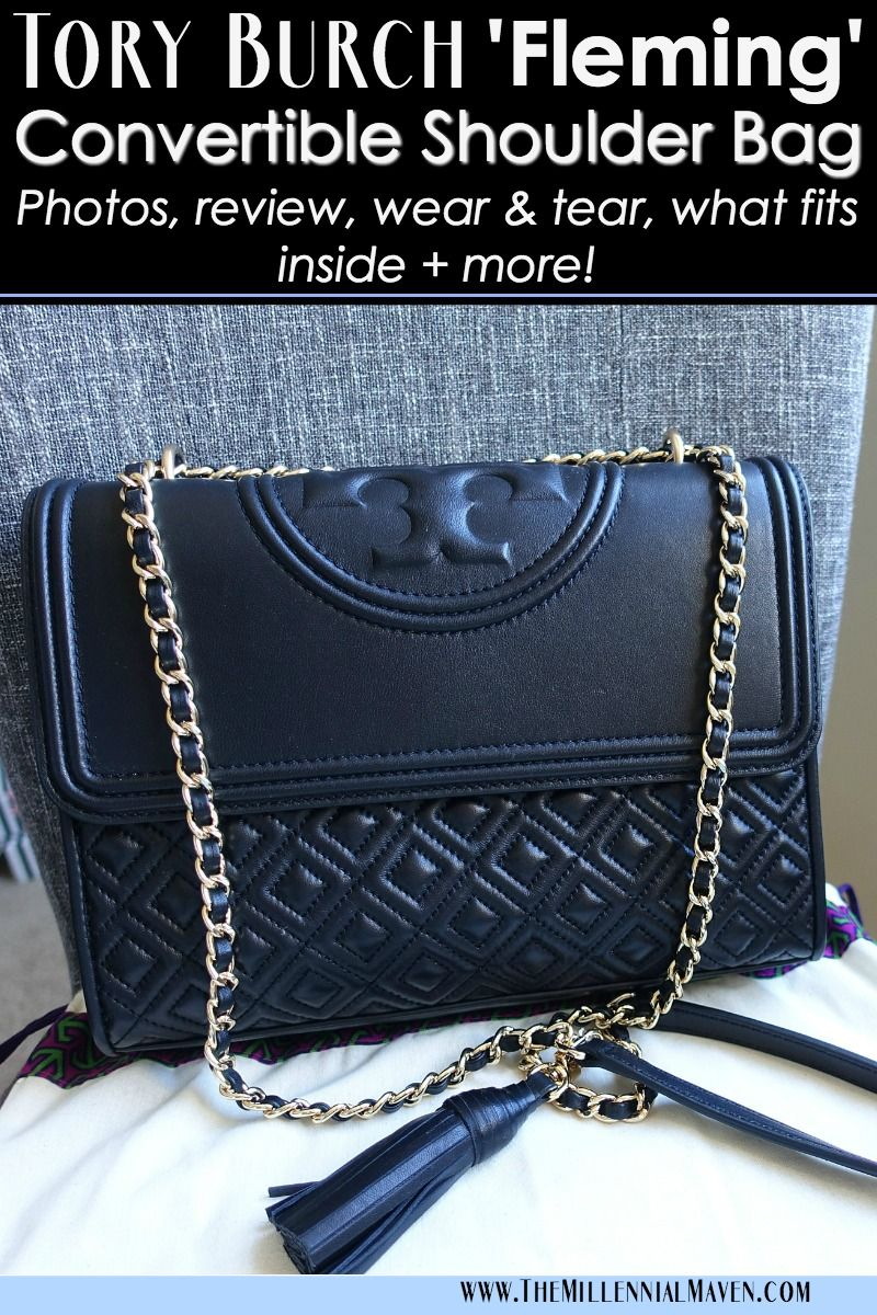 2ee63dcf249d Tory Burch  Fleming  Convertible Shoulder Bag -- My Real Life Review (Tory  Burch Fleming Bag Black