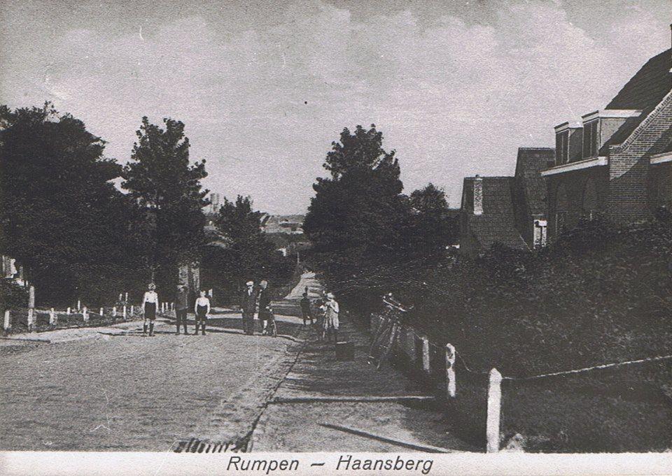 een foto uit 1929 van de Haansberg