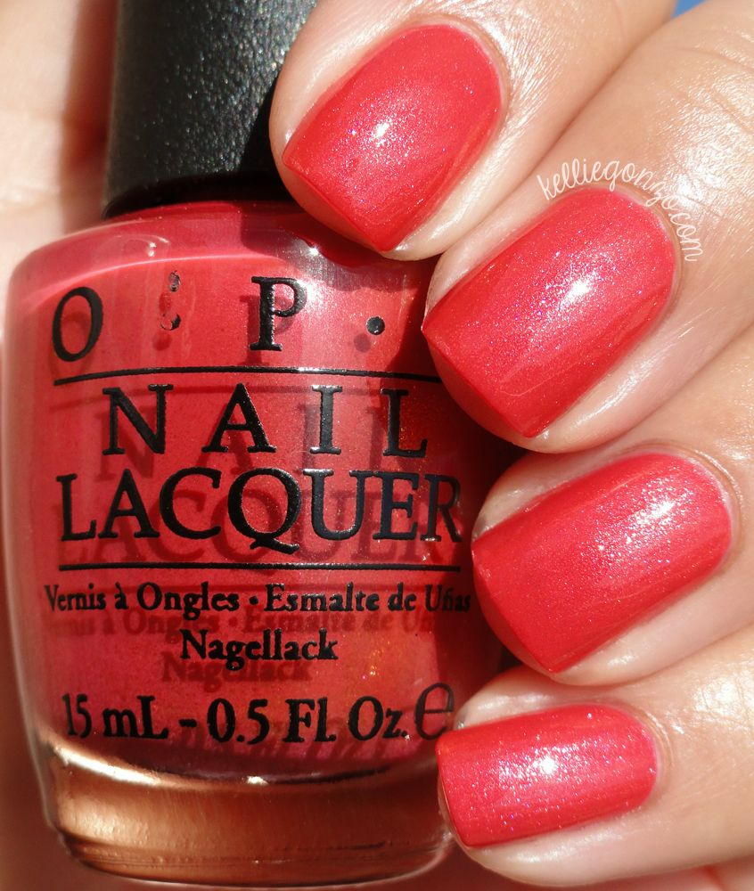 OPI Go With the Lava Flow // kelliegonzo.com | Nails | Pinterest