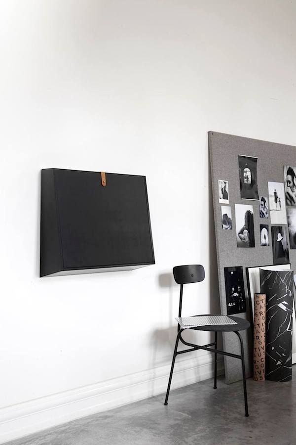 Multifunctional wall desk in black | Norm Architects for MENU ...