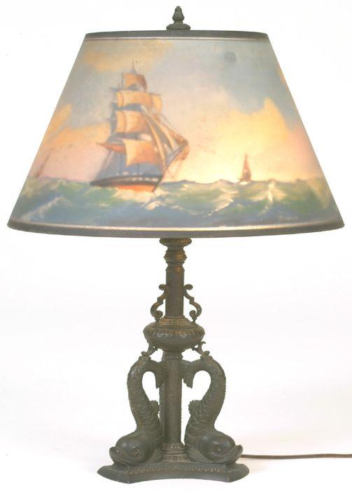 Cottone Auctions Mt Morris Ny 716 658 3119 Lamp Antique Lighting Novelty Lamp