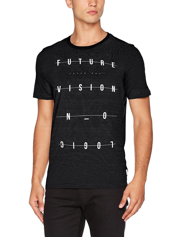 5f52bced Jack & Jones Men's Jcodemon Tee Ss Crew Neck Camp T-Shirt: Amazon.co.uk:  Clothing