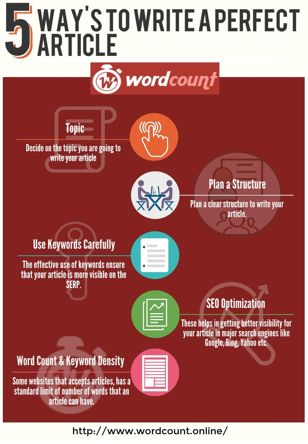 12 Tips to Write a Perfect Article - Word Count Tool ideas
