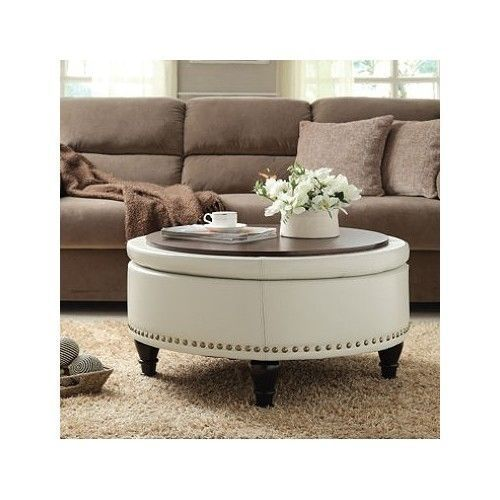 Love This Ottoman It Can Be Used To Store Items Inside And Can Be A Seat A Foo Round Ottoman Coffee Table Leather Ottoman Coffee Table Ottoman In Living Room Ottoman used as coffee table