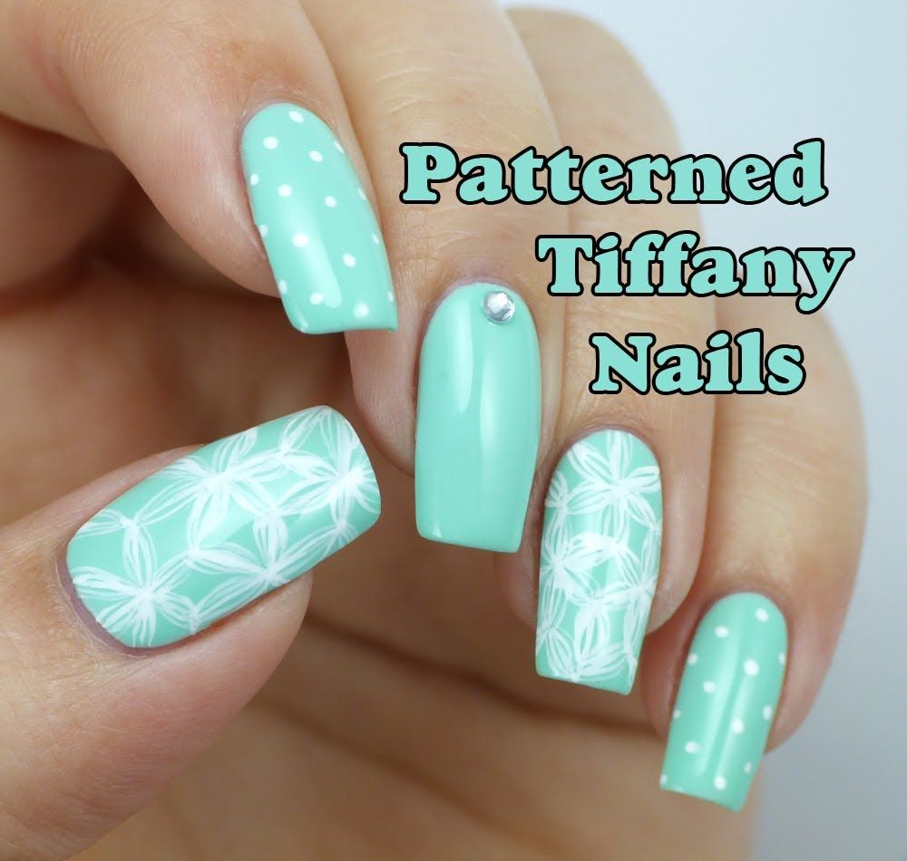Patterned Tiffany Blue Nail Art Design | Lucy's Stash - Patterned Tiffany Blue Nail Art Design Lucy's Stash Nails & Toes