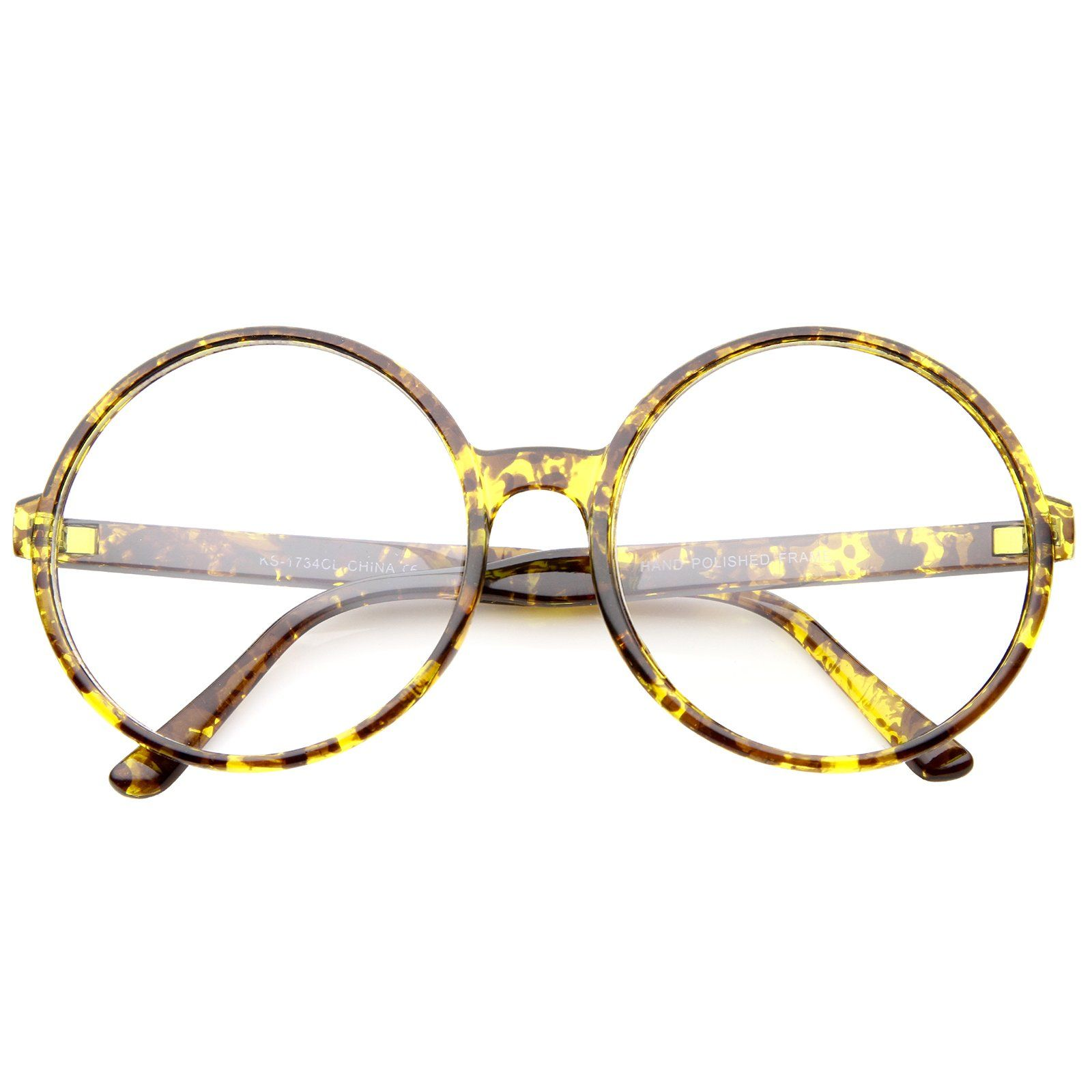 6ccdd39b2 Retro Oversize Clear Lens Round Spectacles Eyewear Glasses 60mm in ...