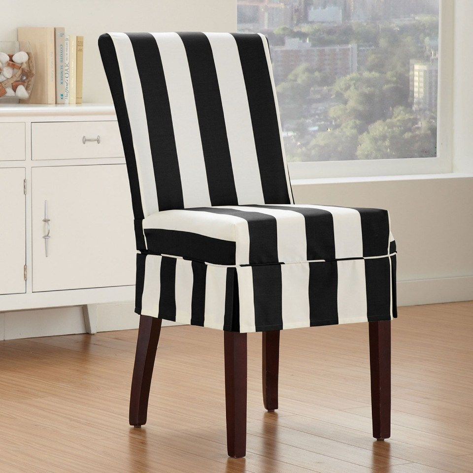 Gallery 1 Margin Auto Gallery 1 Gallery Item Float Left Ma Slipcovers For Chairs Striped Dining Chairs Dining Room Chair Slipcovers
