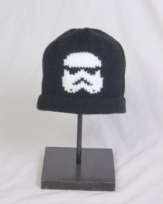 c3ab1a4e947 Custom Knit Star Wars Storm Trooper Hat with or without Ear Flaps ...