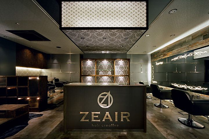 ZEAIR hair salon by design office Dress, Fukuoka Japan store design