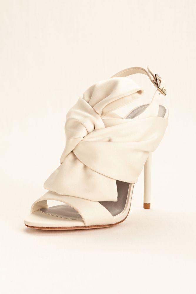 80dfbb33096 Satin Bow High Heel Slingback - Ivory