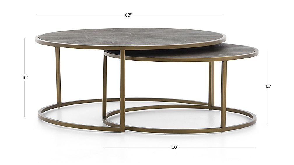 Keya Antique Brass Nesting Coffee Tables Reviews Crate And