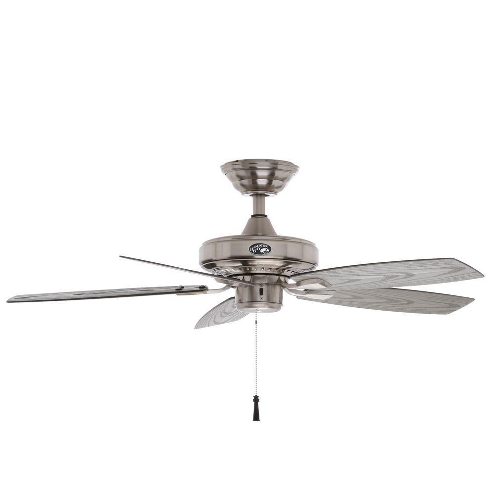 Hampton Bay Gazebo Ii 42 In Indoor Outdoor Brushed Nickel Ceiling