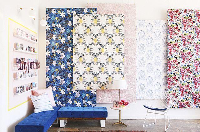 How To Make The Hanging Wallpaper Panels Emily Henderson Bloglovin