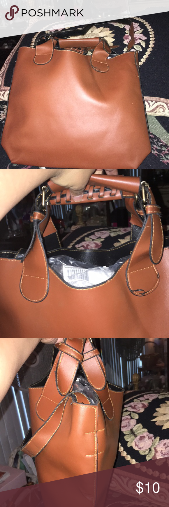 Designer Inspired Bag Purse Tote Hobo Satchel Faux Leather Removable