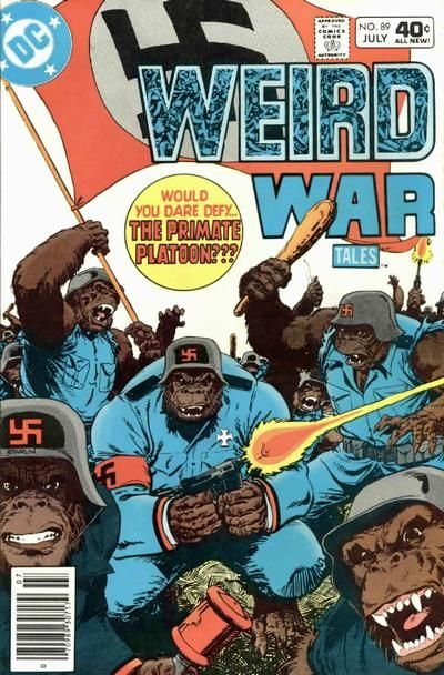 They're not just Nazi gorillas, they're on a Jim Starlin cover! And you thought he was spaced out when he made Mar-Vell blonde!