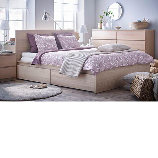 Dormitorio con muebles malm de ikea dormitorios en 2019 - Comodas dormitorio ikea ...