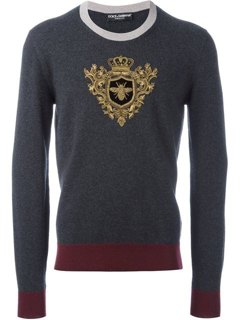 dcd3865658 DOLCE   GABBANA embroidered crown   bee jumper.  dolcegabbana  cloth  jumper