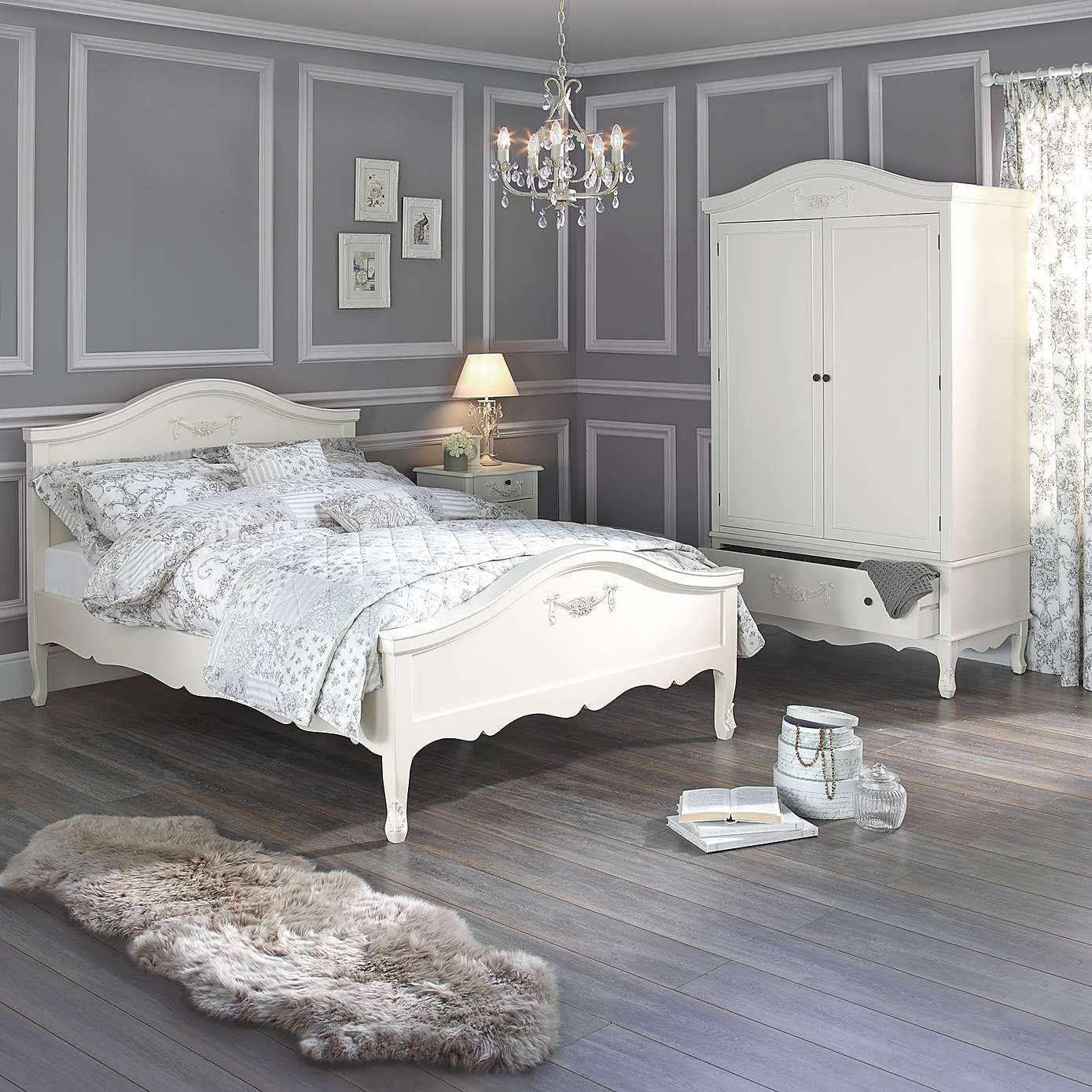 Toulouse White Bedroom Furniture Collection Dunelm Belle - Toulouse bedroom furniture white
