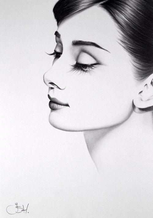 Dessin Portrait D Une Femme De Profile Art Pinterest