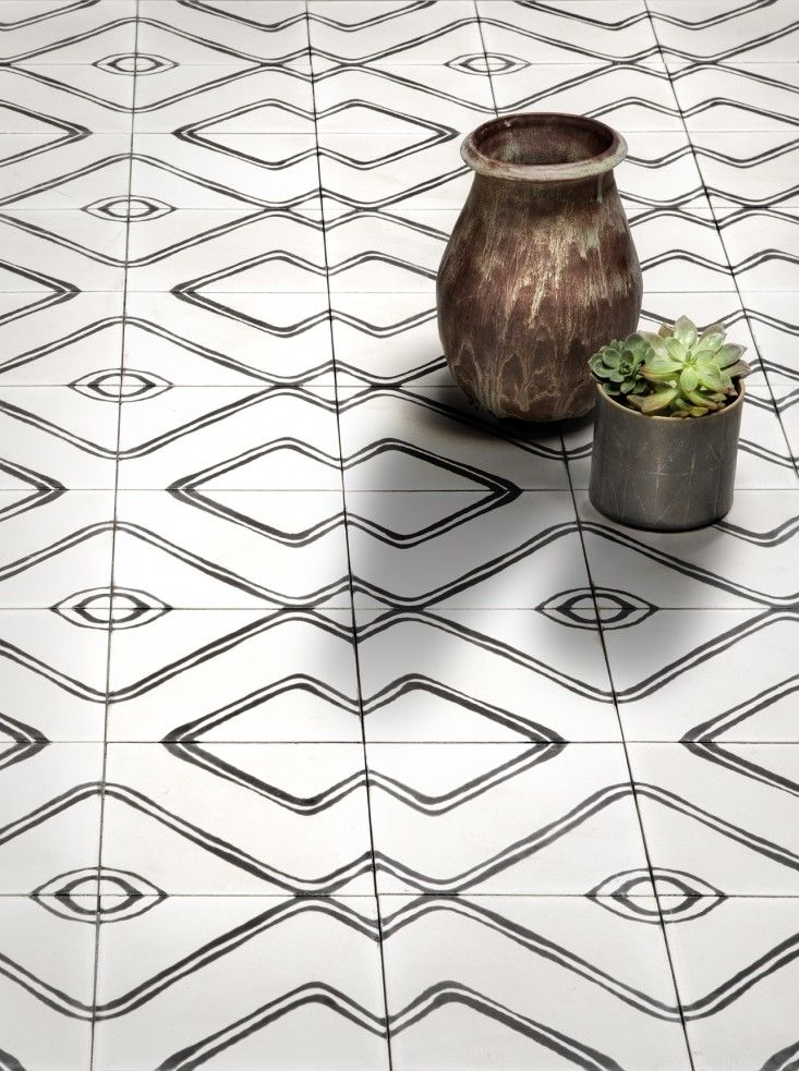 Living in Black and White: Commune\'s New Concrete Tiles | Cement ...