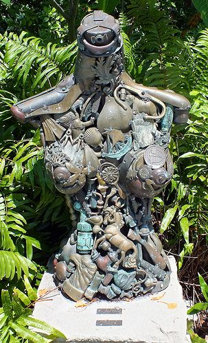 This Fabulous Brass Sculpture Is Prominently Placed In The Garden Of Our U0027 Spanish Villau0027 Vacation Rental.