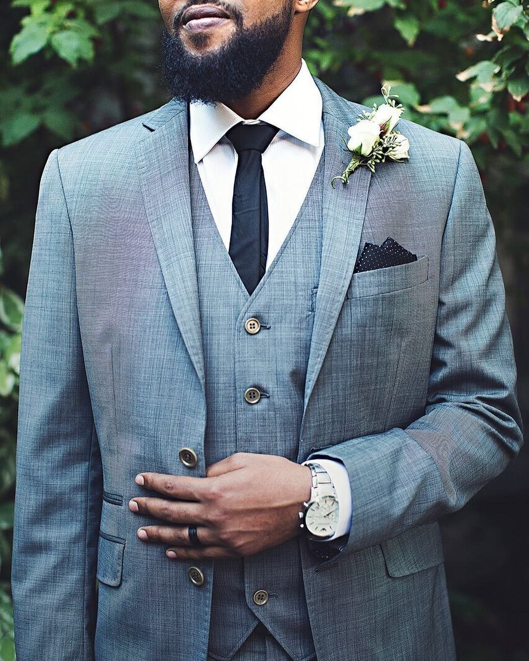 This groom is looking extra classy in this gray tux! | Tuxedos ...