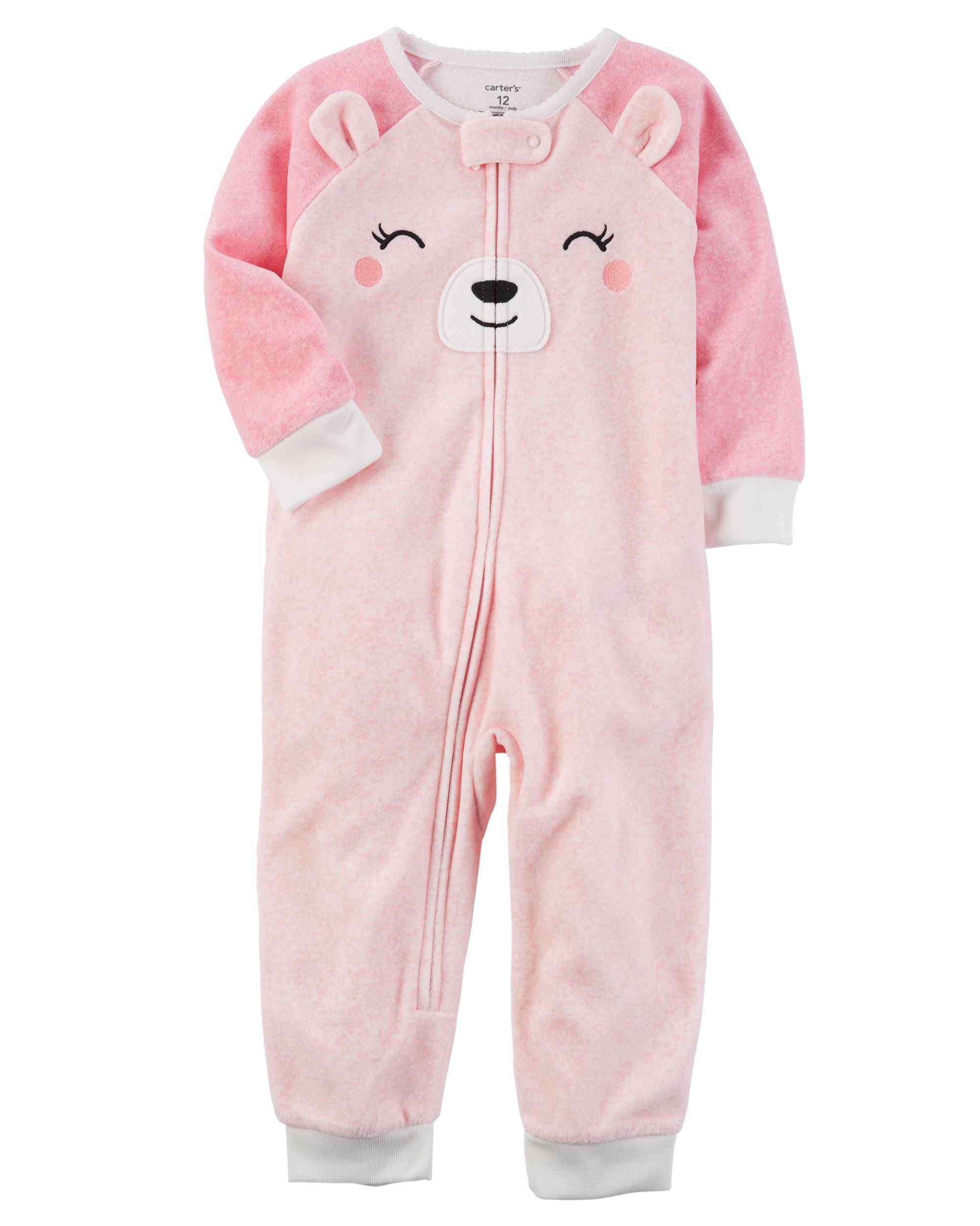 1f54e6df0 1-Piece Bear Fleece Footless PJs