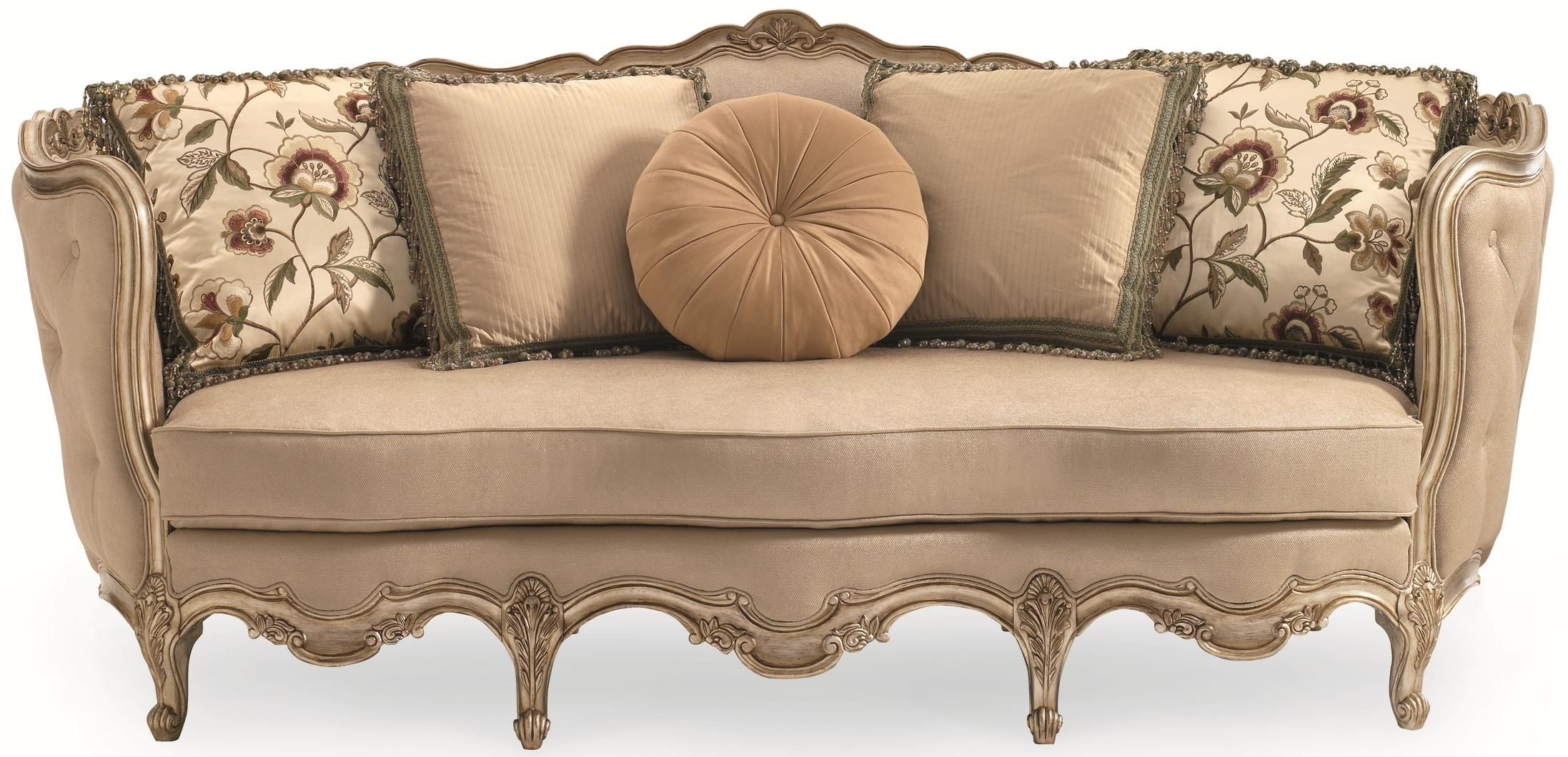 Florence Florence Carved Wood Sofa by Schnadig