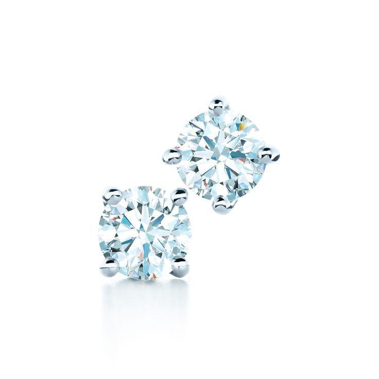 Tiffany Diamond Earrings Tiffanypinterest Solitaireearrings Diamondstuds