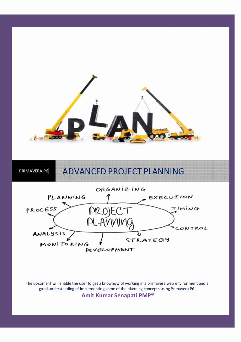 Project Implementation Plan Best Of Primavera P6 Advanced