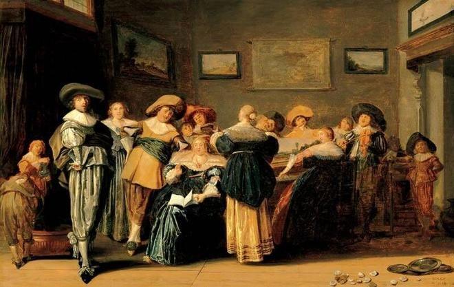 Dirck Franchoisz Hals, Company Making Music in an Interior, 1633. Frans Hals Museum #franshalsmuseum #haarlem #art