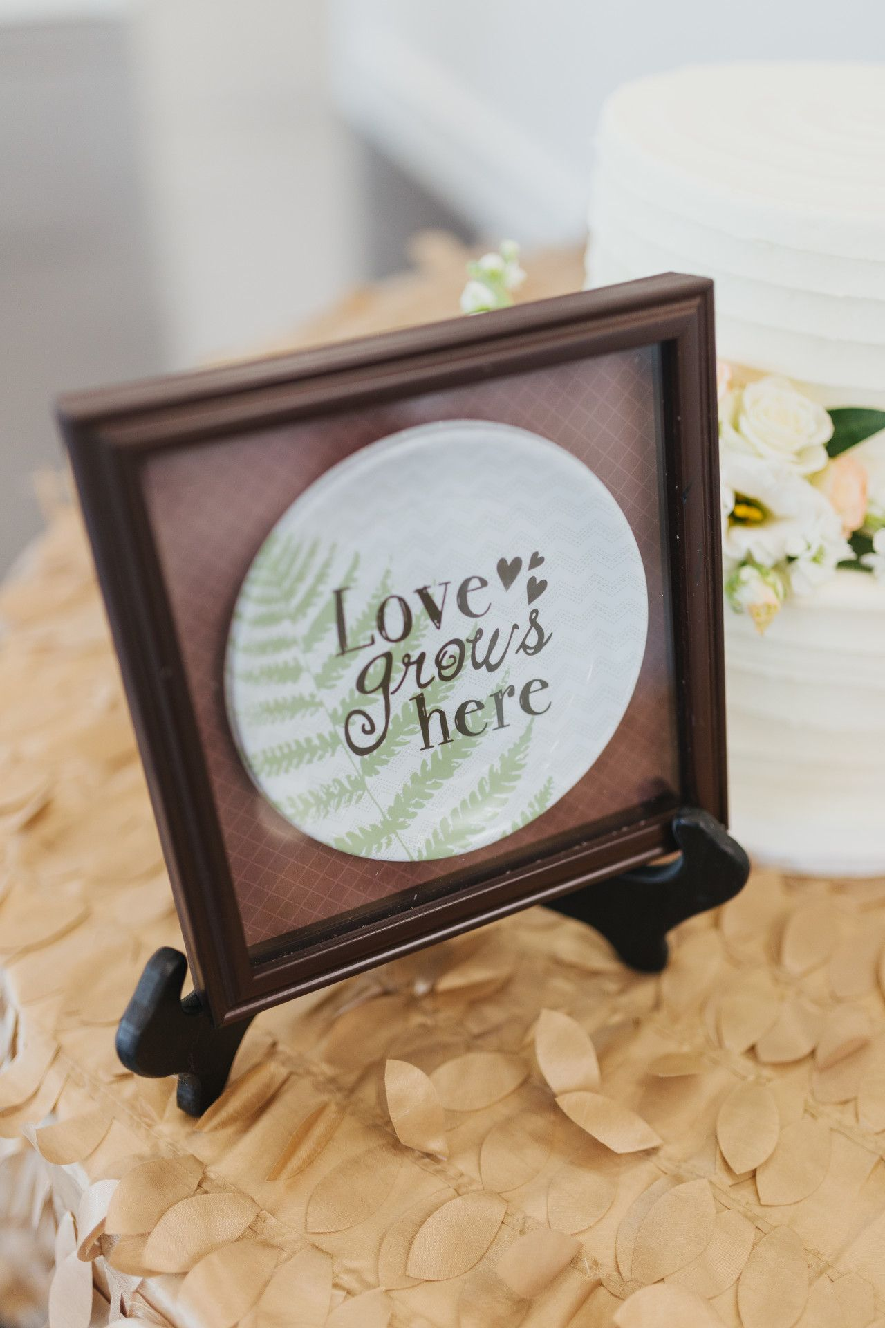 Wedding decorations simple  simple wedding sign to place by your wedding cake